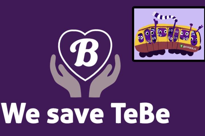 """Logos des Protests: Die #caravanoflove-Tour wirbt für die """"We save TeBe""""-Kampagne!"""