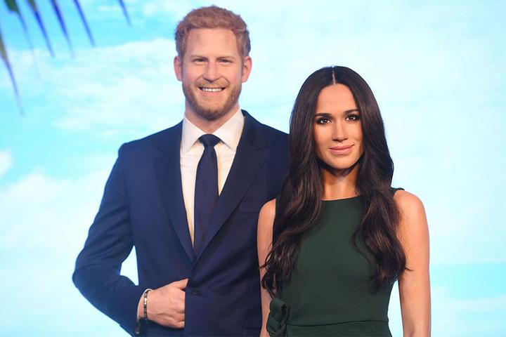 Mit der royalen Hochzeit werden die Wachsfiguren von Prinz Harry und Meghan Markle nebeneinander stehend zu sehen sein.