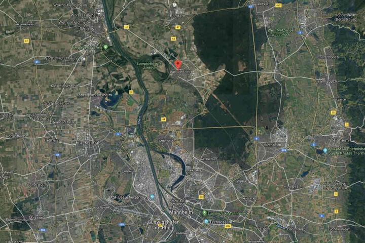 Die Gruppe war auf der B44 zwischen Lampertheim und Mannheim unterwegs.