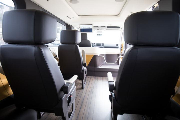 So sieht das Moia-Fahrzeug im Inneren aus.