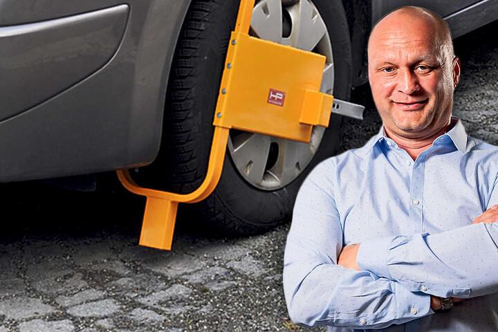 Stadtrat Gordon Tillmann (44, FDP) will mit Parkkrallen Falschparker dingfest  machen.
