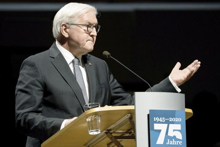 Bundespräsident Frank-Walter Steinmeier spricht auf einer Gedenkveranstaltung im Dresdner Kulturpalast.