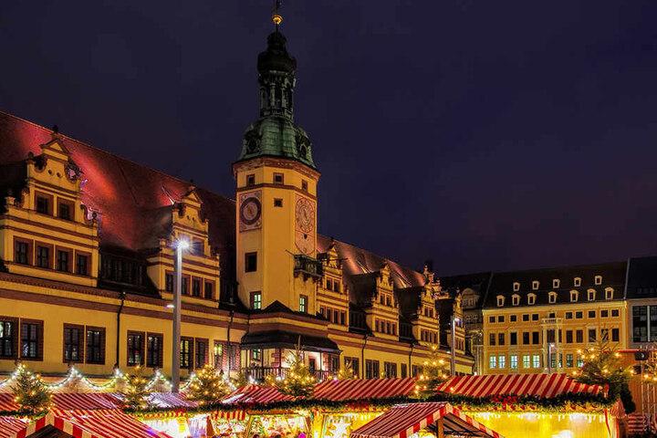 Vor allem in der Weihnachtszeit ist das Zentrum Leipzigs eine Schau!