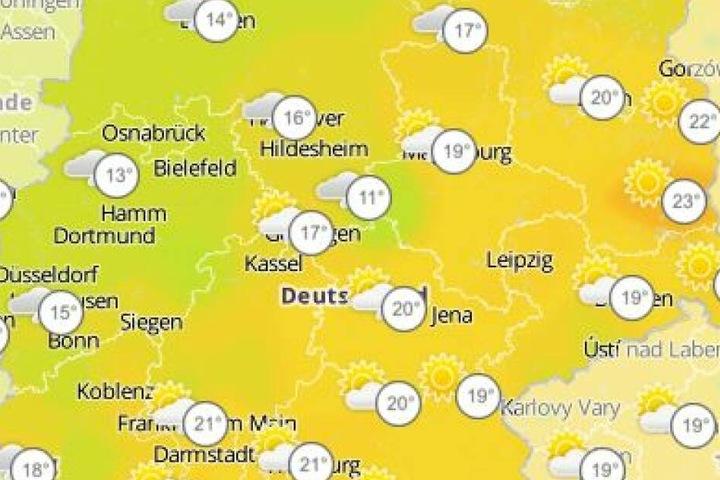 Mit zweistelligen Wettertemperaturen kann in der kommenden Woche gerechnet werden.