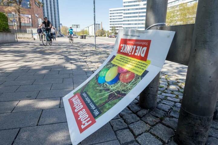 In Chemnitz wurden wieder mehrere Wahlplakate abgerissnen.