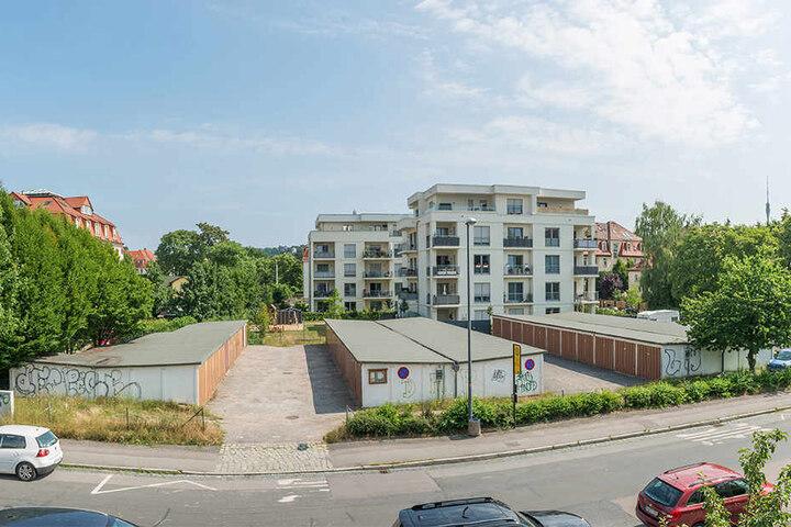 Der Garagen-Standort an der Schaufußstraße wird bebaut. Die Garagen sind bereits geräumt.