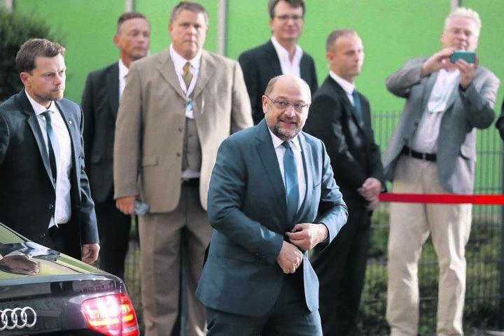 Martin Schulz auf dem Weg zum TV-Duell.