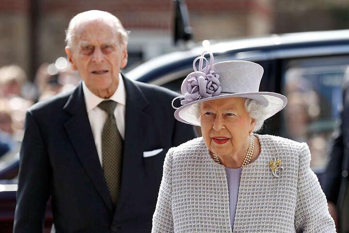 Prinz Philip mit seiner Frau, Königin Elizabeth II.