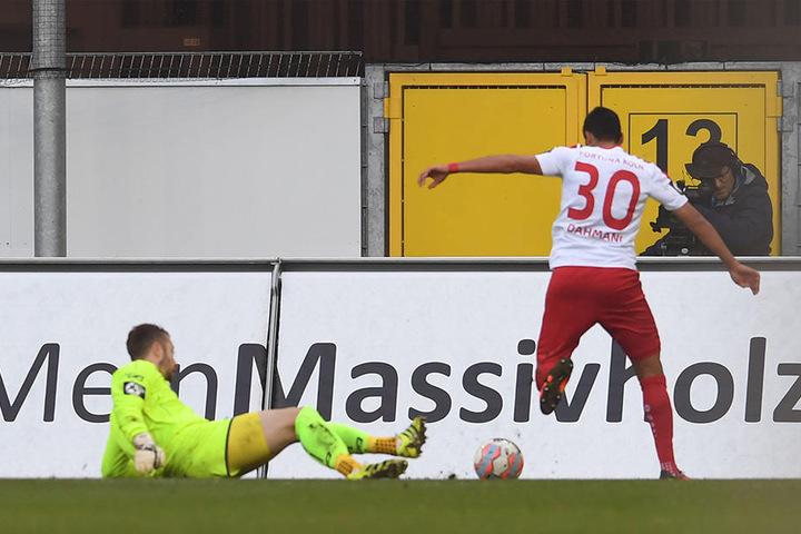 Hamdi Dahmani umspielte SCP-Keeper Kruse und traf zum 1:0 für die Gäste.