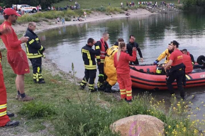 In der Mitte des Sees war der 26-Jährige untergegangen.