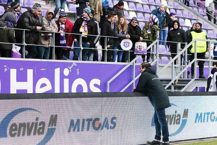 Daniel Meyer sucht auch nach schwächeren Auftritten seiner Mannschaft das Gespräch mit den Fans.