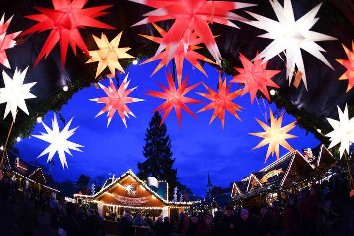 Der Erfurter Weihnachtsmarkt ist der größte in Thüringen.