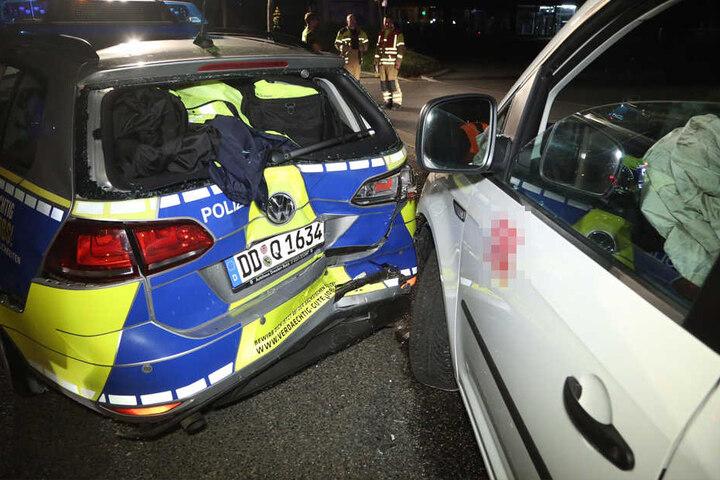 Alkoholfahrt - Mutmaßlicher Bahnmitarbeiter fährt in Polizeiwagen