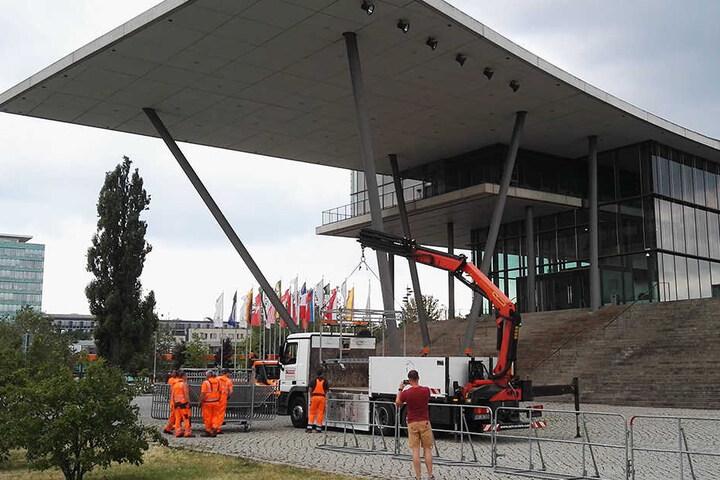 Auch sogenannte Hamburger Gitter sollen die Innenminister schützen.