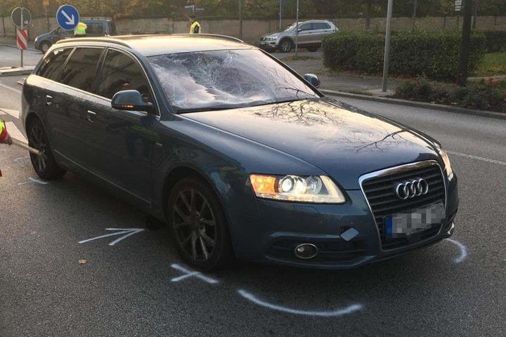 Die Fahrerin des Audis blieb unverletzt.