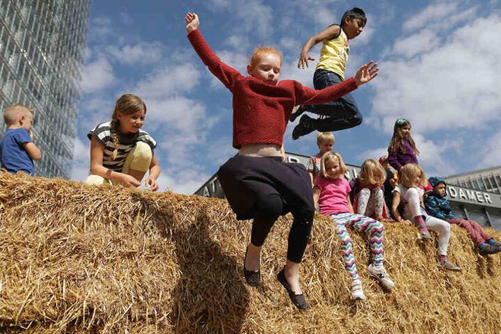 Hier können sich Kinder austoben: Das Weltkindertagsfest findet auf dem Potsdamer Platz statt.