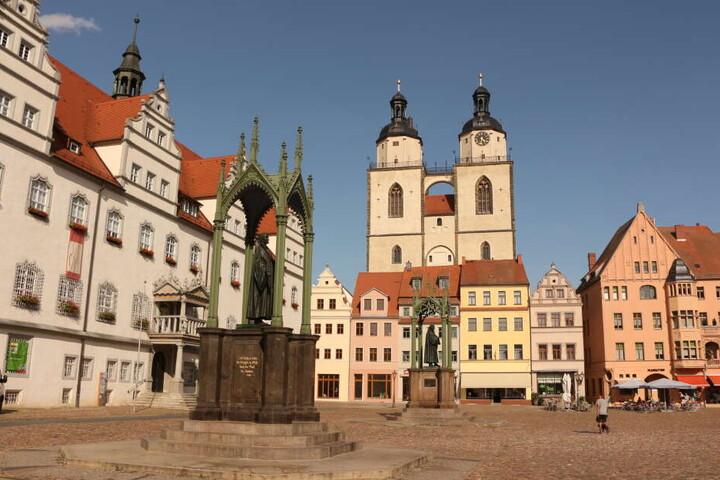 Der Marktplatz in Lutherstadt Wittenberg. Hier verlor sich die Spur der 55-Jährigen.