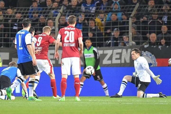 Gegen Stuttgart verlor der DSC am Ende 2:3.