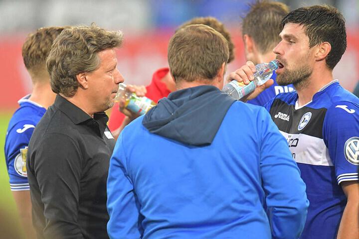 DSC-Trainer Jeff Saibene (48, li.) baut auf seinen Rechtsverteidiger Florian Dick (32, re.).