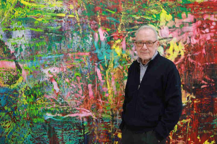 Der Künstler Gerhard Richter in seinem Atelier in Köln. Der Maler ist der weltweit wichtigste Gegenwartskünstler, er stammt aus Dresden. Auch die Kunstsammlungen zeigen bald seine Gemälde.