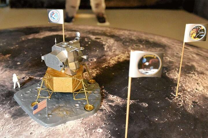 Der Adler ist gelandet: Anhand von Modellen wie hier der Apollo-11-Landefähre wird das Apollo-Programm für Besucher sehr anschaulich.