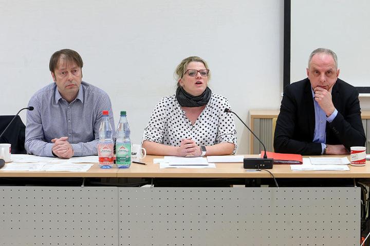 Thomas Lehmann (48, Grüne), Susanne Schaper (38, Linke) und Detlef Müller  (52, SPD), stellten ihre 17-Millionen-Euro-Wunschliste vor.