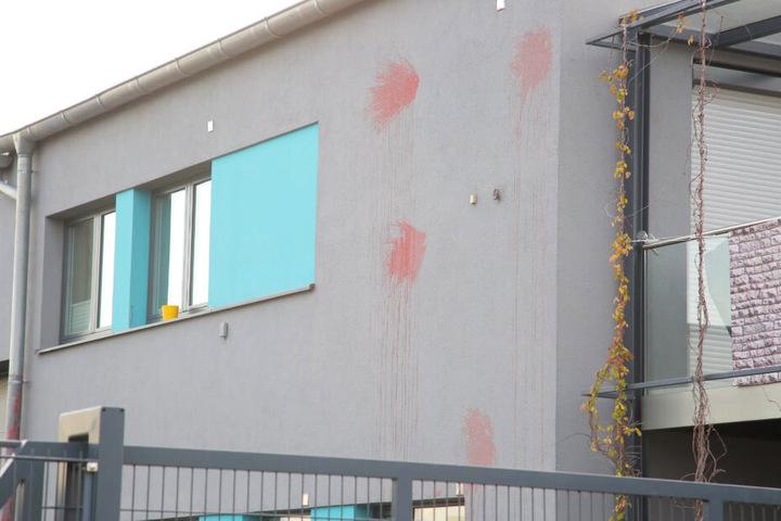 Das Haus auf der Kurt-Beyer-Straße wurde bereits Ende November Opfer einer Farbattacke.