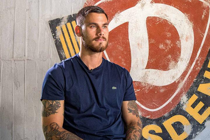 Dario Dumic bei seinem ersten Interview als Dynamo-Spieler.