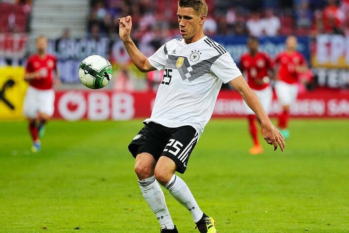 Machte gegen Österreich sein erstes und vorerst letztes Länderspiel für die A-Nationalmannschaft: Freiburgs Mittelstürmer Nils Petersen.