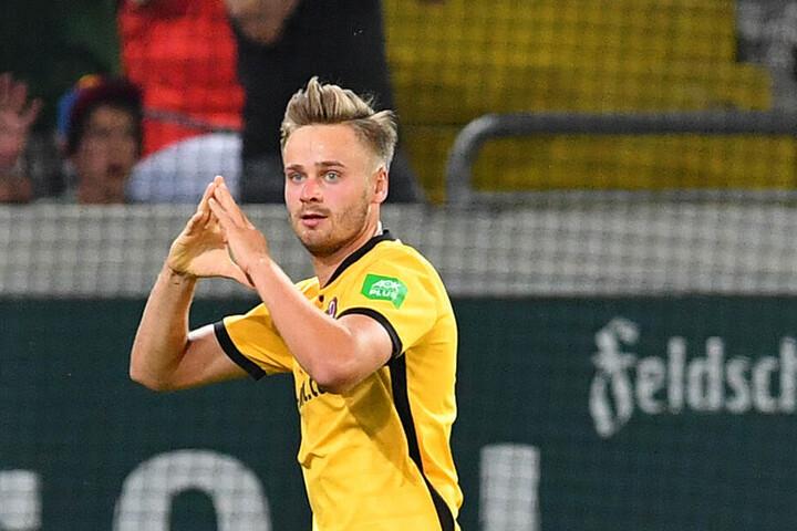 Lucas Röser traf für Dynamo in beiden Spielen gegen Duisburg. Beide Partien gewannen die Dresdner.