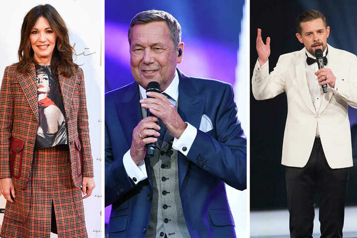Sie unterstützen Martin Schulz: Iris Berben (von links nach rechts), Roland Kaiser und Moderator Klaas Heufer-Umlauf.