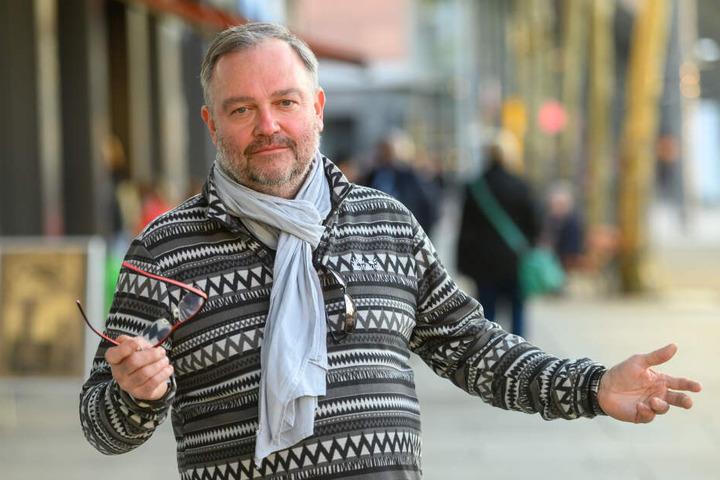 """Lutz Gläser (54) von der """"Future""""-Werbeagentur fordert die Chemnitzer auf, nach Alternativen für ein Stadtfest zu suchen."""