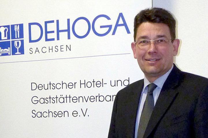 Jens Vogt von der Dehoga Sachsen weiß, dass in manchen Hotels jetzt Flaute  herrscht.