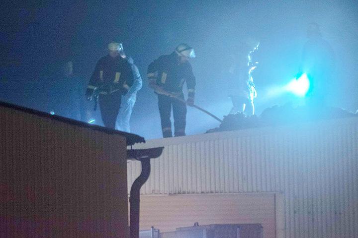 Nach dem Raub gab es zwei Explosionen, dann brach ein Feuer aus.