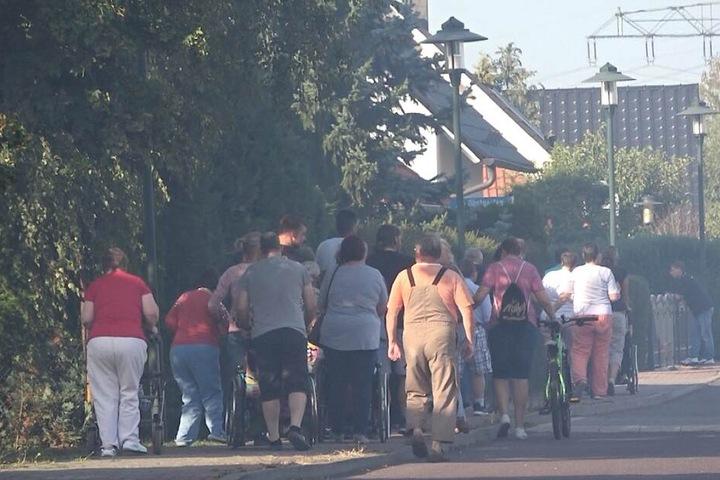 Die Bewohner eines Behindertenheims mussten für zwei Stunden evakuiert werden.