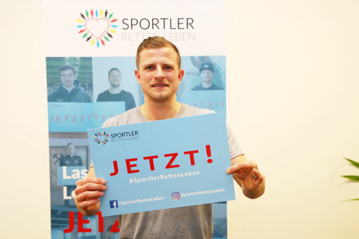 """Aue-Profi Nicky Adler hat die Initiative """"Sportler retten Leben"""" ins Leben gerufen."""