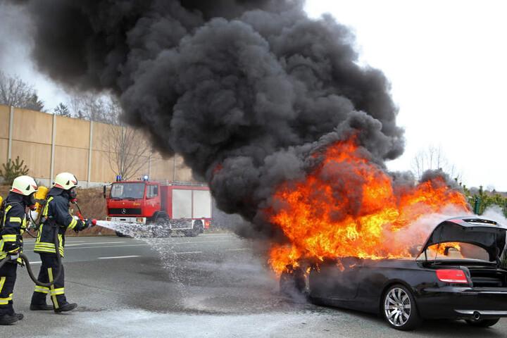 Innerhalb einer Viertelstunde konnte die Feuerwehr das Feuer löschen.