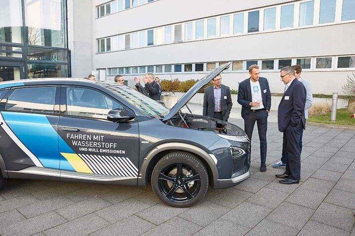 Der Hyundai Nexo war der Star der Brennstoffzellen-Tagung. - und begehrter als (kl.F.).