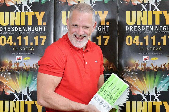 Veranstalter Ralf Koppetzki freut sich auf seine 19. Unity Dresden Night.