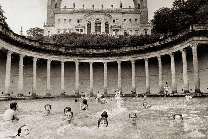 In den 80-er Jahren planschte Dresdens Jugend im Römischen Bad.