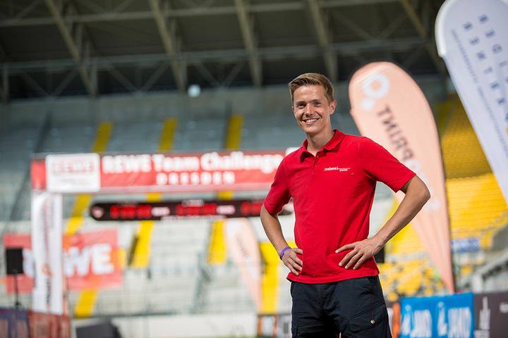 Reinhardt Schmidt (32) organisiert den Citylauf und viele andere Dresdner Laufveranstaltungen mit Zehntausenden Teilnehmern.