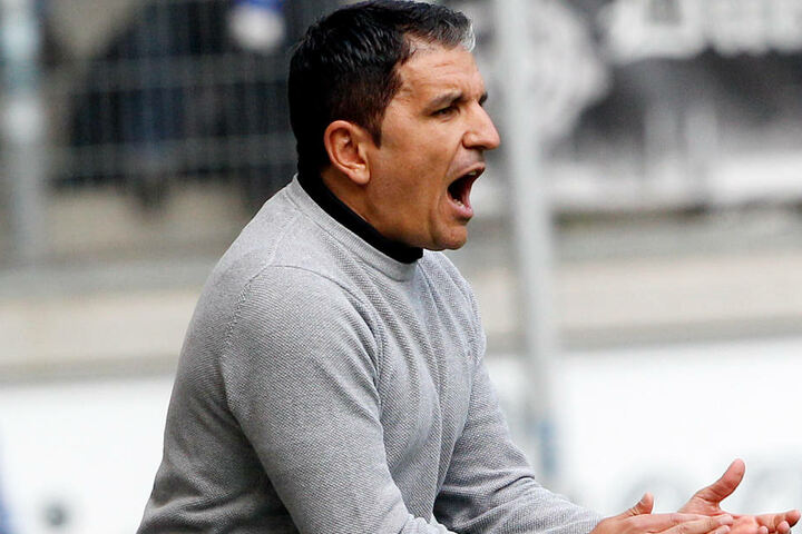 SVS-Trainer Kenan Kocak in Aktion.