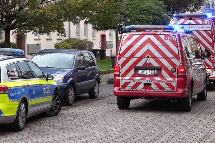 Feuerwehr und Polizei waren wegen des Brandes im Einsatz.