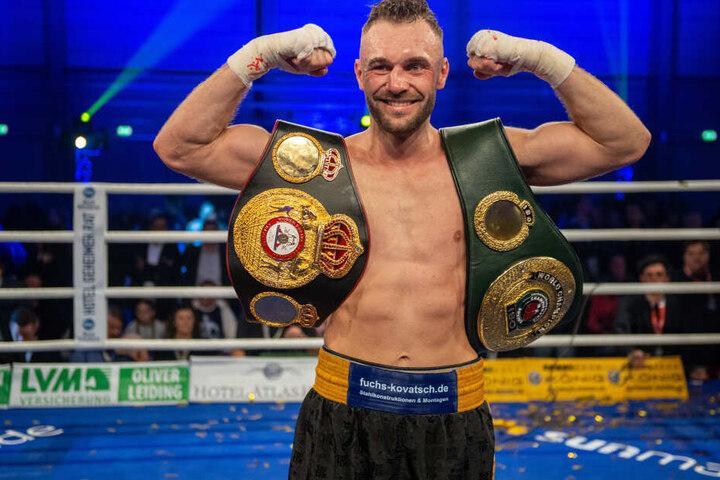 Am 28. März will Dominic Bösel (30) seine WM-Gürtel in Magdeburg verteidigen.