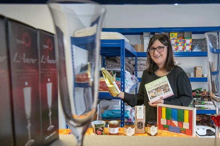 Sachsenfee Ariane Brock (26) vertreibt Geschenke made in Sachsen.