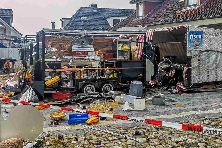 Die Polizei hat den betroffenen Bereich abgesperrt.