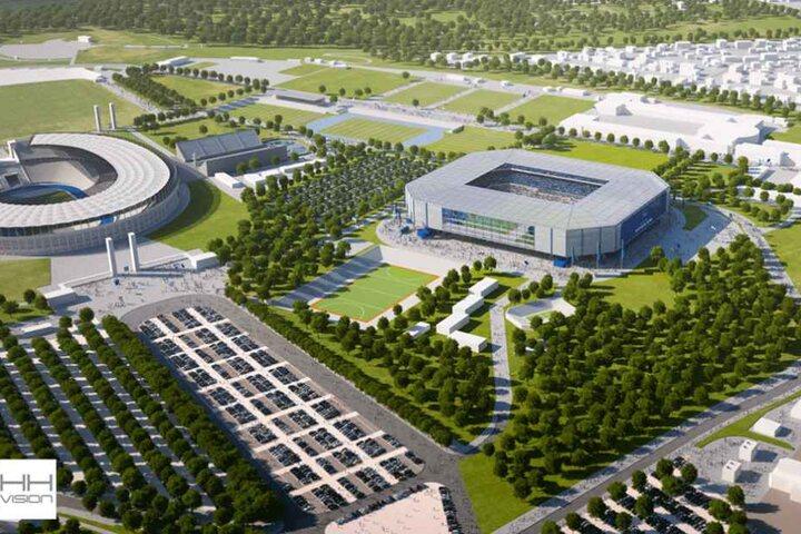 Das wäre der Neubau im Olympiapark.