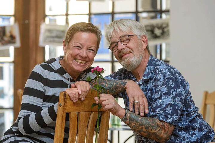 MDR-Moderatorin und Dänen-Expertin Janine Strahl-Oesterreich (59) mit Ex-Schauspieler Jes Holtsø (61).
