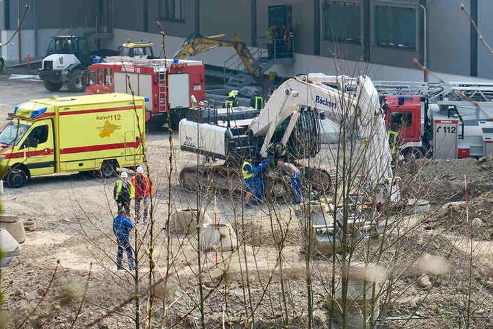 Der Unfall passierte auf einer Baustelle in Schwarzenberg.