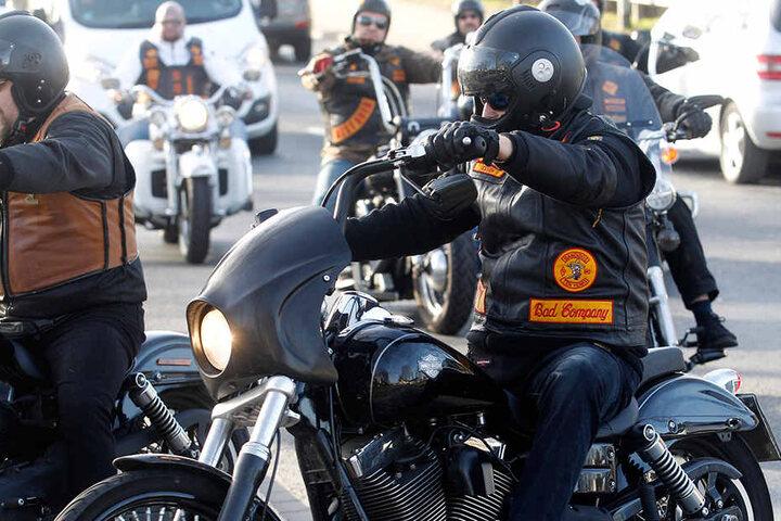 Mit ihren Motorrädern rollten Rocker aus ganz Deutschland nach Herne.